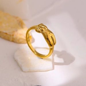 💛Gold plated body ring